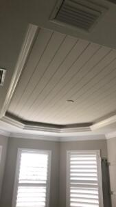 Nickel gap ceiling with crown molding - after