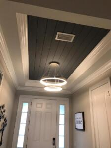 Nickel gap with crown molding